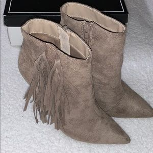 Women's fringe booties!